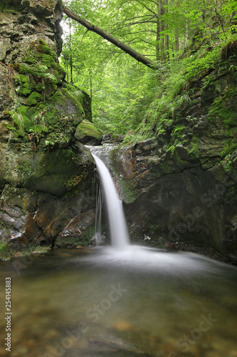 Photo  Waterfall on the Silver Brook, Czech Republic