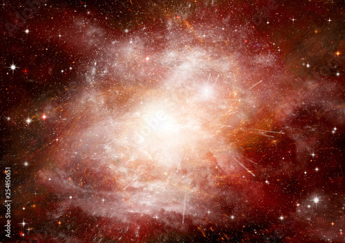 Fotobehang Vuur galaxy in a free space