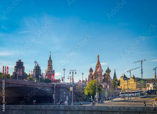Aluminium Prints Amsterdam Spring cityscape of Moscow Kremlin