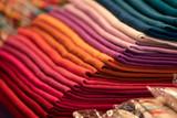 Fototapeta Tęcza - Different colors silk fabric