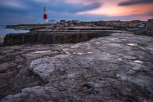 Portland Bill Lighthouse At Twilight