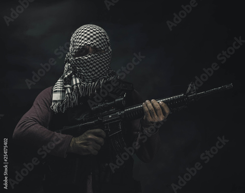 Cuadros en Lienzo rebel militant terrorist guerrilla concept