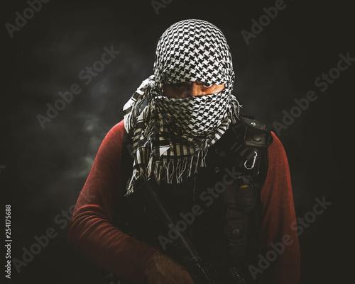 Fotografía rebel militant terrorist guerrilla concept