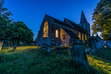 Pluckley Church At Night
