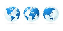 Transparent World Globe Maps P...