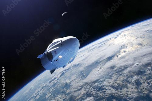 Fotografia Cargo spacecraft in low-Earth orbit