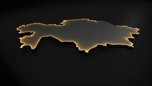 3D Animated Map Of Kazakhstan