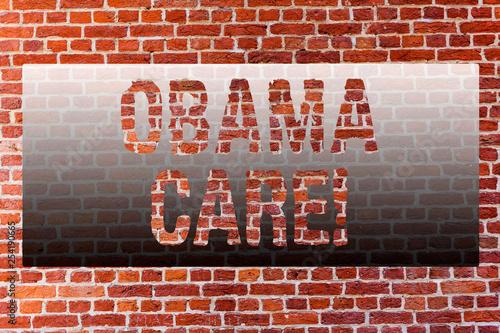 Fényképezés  Word writing text Obama Care