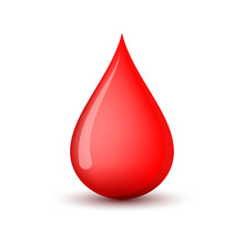 Red Blood Drop Icon. Vector Il...