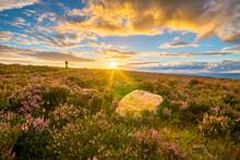 Sunset Ilkley Moors