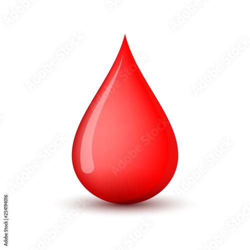 Fototapeta Red blood drop icon. Vector illustration. obraz