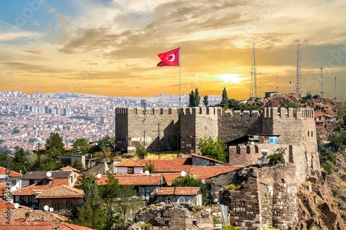 Ankara Castle, Ankara capital city of Turkey Canvas Print