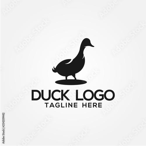 Duck Logo Vector Design Wall mural