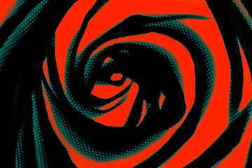 FototapetaRed and black abstract rose design