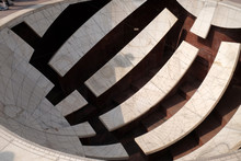 Detail Of The Jai Prakash Yantra, A Sundial Which Measures Altitudes, Azimuths, Hour Angles And Declinations In The Jantar Mantar. Jaipur, Rajasthan, India.