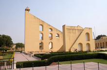 Famous Observatory Jantar Mantar, A Collection Of Huge Astronomical Instruments In Jaipur, Rajasthan, India.