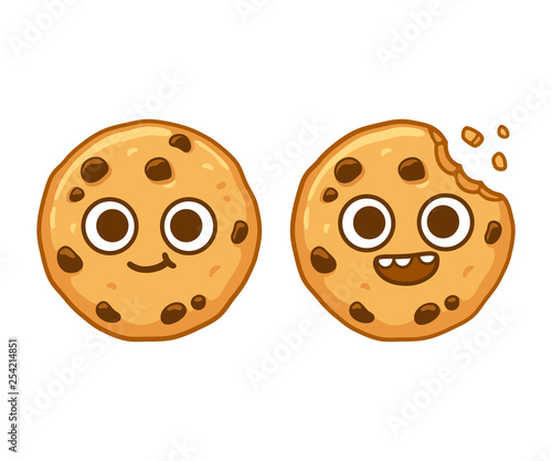 Cuadros en Lienzo Chocolate chip cookie character