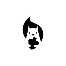 Squirrel Logo Vector Icon Is H...