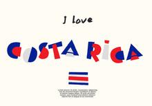 World Flag With Fun Geometrical Alphabets : Vector Illustration