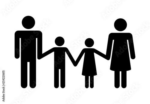 Fototapeta rodzina ikona obraz