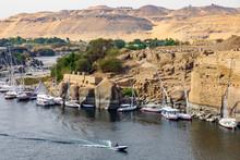 Blick Auf Die Insel Elephantine In Assuan Am Nil In Ägypten