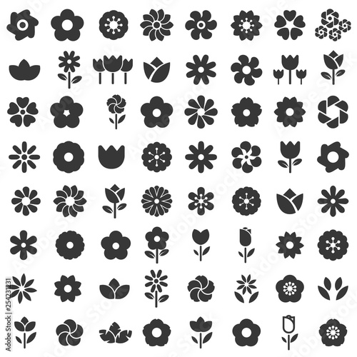 Canvas Print flower icon - flower pattern seamless vector illustrator