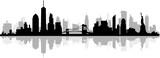 Fototapeta New York - New York City Skyline SIlhouette
