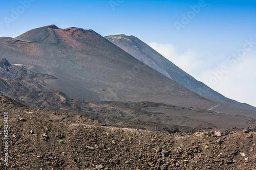 Etna summit craters of south-east panorama, Sicily Tapéta, Fotótapéta