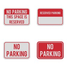Set Of Horizontal Signs For Pa...