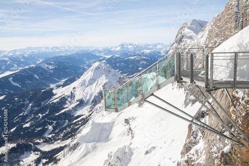 Fotografie, Tablou  observation deck on Dachstein