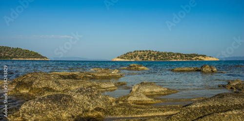 Fotografie, Obraz  panorama vivid colorful picturesque scenery landscape of Mediterranean rocky sho