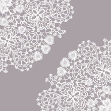 Delicate Fine Lace Texture With Heart Elements   Elegant And Beautiful Pattern For Your Design