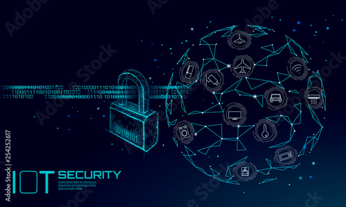 Fotomural IOT cyber security padlock concept