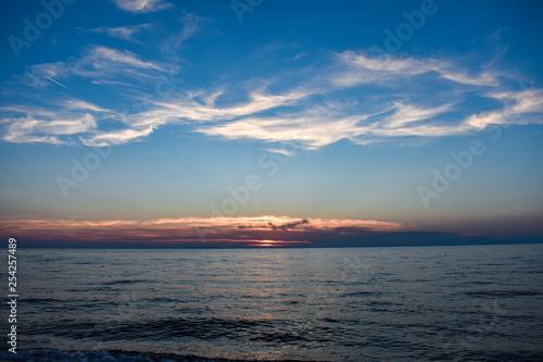 Sunset on Mediterranean