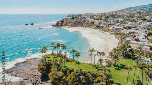 Laguna Beach Aerial View Canvas Print