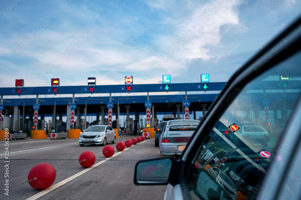 Fototapeta car at the checkpoint