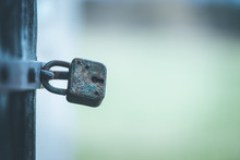 Rusty Old Padlock At A Door, C...
