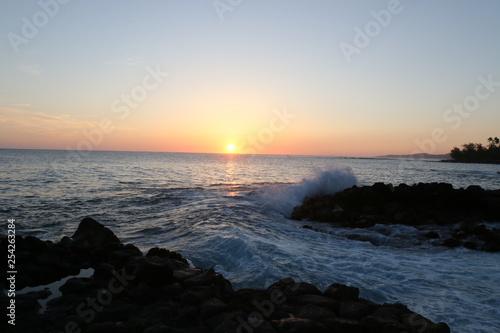 Island surf sunset