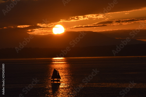 Sunset in the Puget Sound
