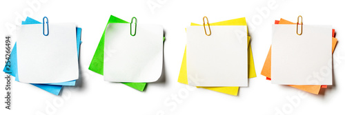 Notepads with paperclip set. Canvas Print