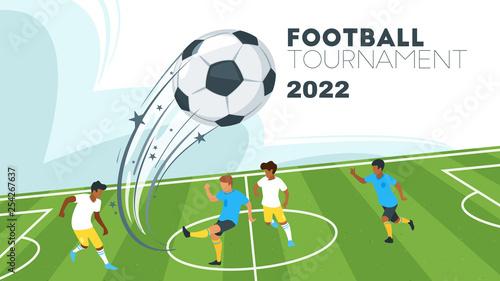 Fotografia Soccer championship design element