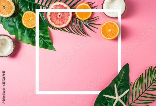 Tropical background concept.