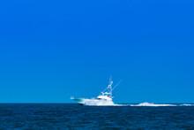 White Luxury Yacht Sport Fishe...