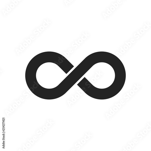 Carta da parati  Infinity sign icon. Vector.