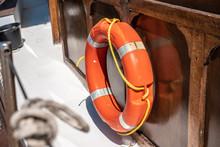 One Orange Lifebuoys On Board ...