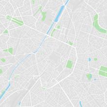 Downtown Vector Map Of Brussels, Belgium
