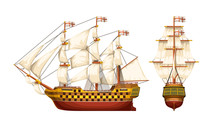 Old War Ship Set