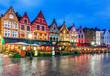 canvas print picture - Bruges, Belgium.
