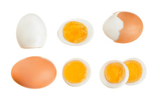 Boiled Egg And Half Isolated O...