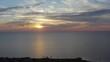 091 Sunset flying back. Aerial view. 4k